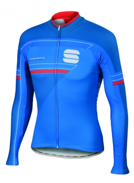 Sportful Gruppetto thermal jersey blue men