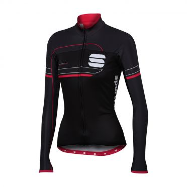 Sportful Grupetto pro W thermal long sleeve jersey black/anthracite women