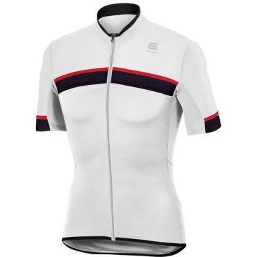 Sportful SF pista jersey short sleeve white/black men