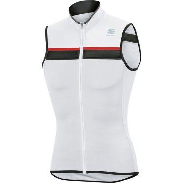 Sportful SF pista jersey sleeveless white/black/red men
