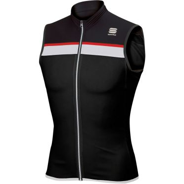 Sportful SF pista jersey sleeveless black/white/red men
