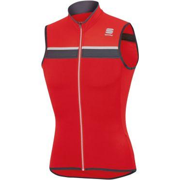 Sportful SF pista jersey sleeveless red/white men