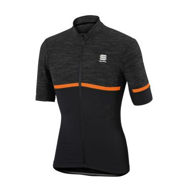 Sportful Giara jersey anthracite/orange men