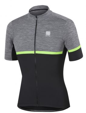 Sportful Giara jersey anthracite/green men