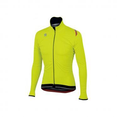 Sportful Fiandre ultimate WS long sleeve jacket yellow fluo/black men