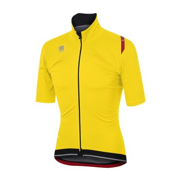 Sportful Fiandre ultimate WS short sleeve jacket yellow fluo/black men