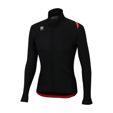 Sportful Fiandre light wind long sleeve jacket black men