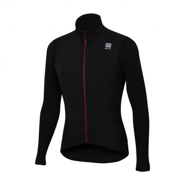 Sportful R&D strato long sleeve jacket black men