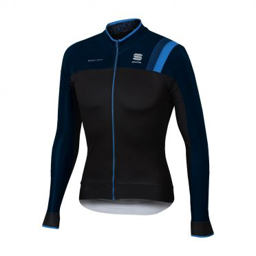 Sportful Bodyfit pro thermal long sleeve jersey black/blue men