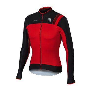 Sportful Bodyfit pro thermal long sleeve jersey red/black men