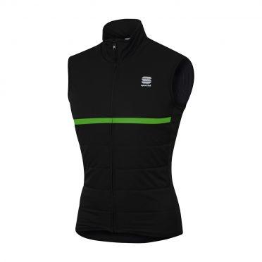 Sportful Giara thermal sleeveless vest black/green men