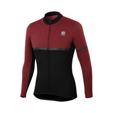 Sportful Giara warm long sleeve jersey black/purple men