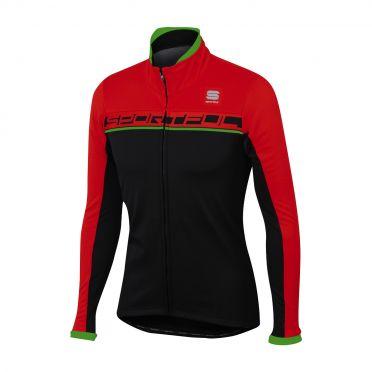 Sportful Giro softshell jacket black/red/green men