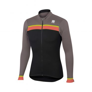 Sportful Pista thermal jersey black/brown men