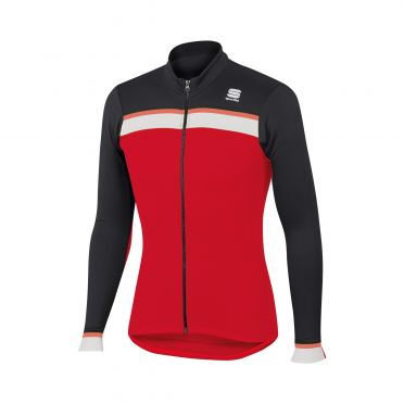 Sportful Pista thermal jersey red/black/white men