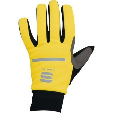 Sportful Polar glove yellow fluo/black men