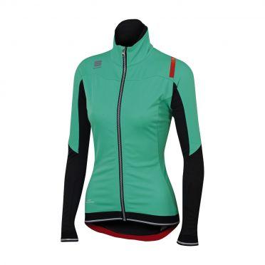 Sportful Fiandre no-rain W long sleeve jacket turquoise/black women