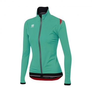 Sportful Fiandre ultimate WS W long sleeve jacket turquoise/black women
