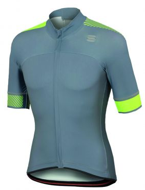 Sportful Bodyfit pro classics jersey gray/yellow fluo men