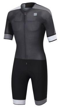 Sportful Bodyfit pro speedsuit short sleeve black/white men