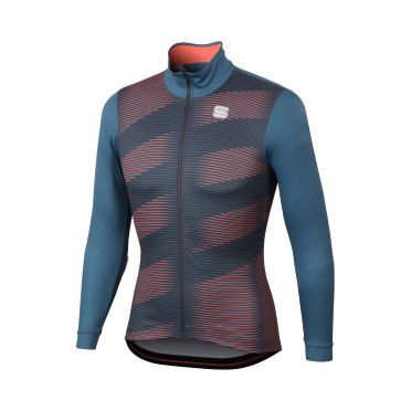 Sportful Moire thermal jersey blue/red men