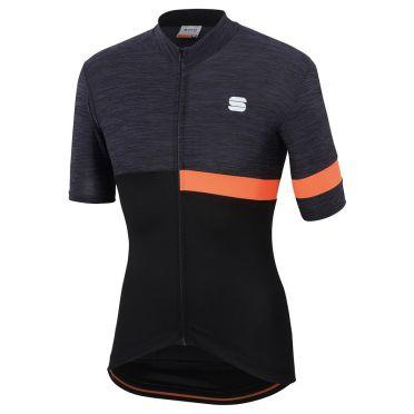 Sportful Giara Jersey black/orange men