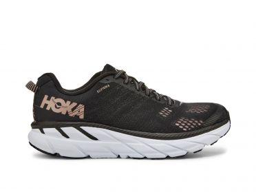 Hoka One One Clifton 6 running shoes black/gold women