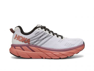 Hoka One One Clifton 6 hardloopschoenen wit/roze dames
