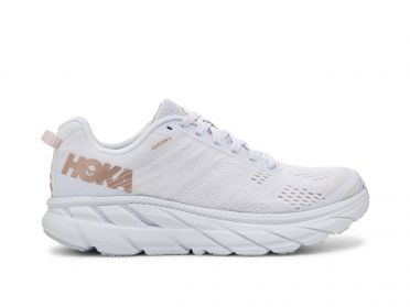 Hoka One One Clifton 6 running shoes white/gold women