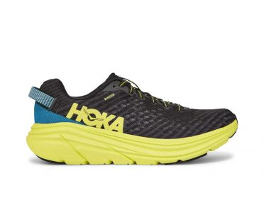 Hoka One One Rincon running shoes black/blue/yellow men