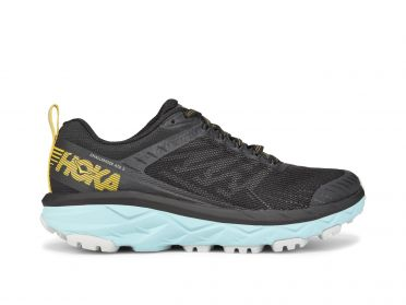 Hoka One One Challenger ATR 5 wide running shoes anthracite/blue women