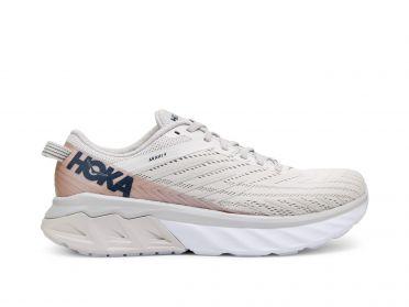 Hoka One One Arahi 4 running shoes white/pink women