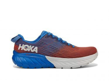 Hoka One One Mach 3 running shoes blue/red men