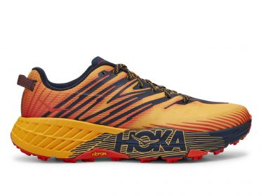 Hoka One One Speedgoat 4 trail running shoes orange/yellow men