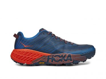Hoka One One Speedgoat 4 trail running shoes blue/orange men