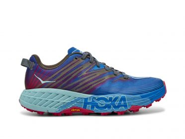Hoka One One Speedgoat 4 trail running shoes blue/purple women