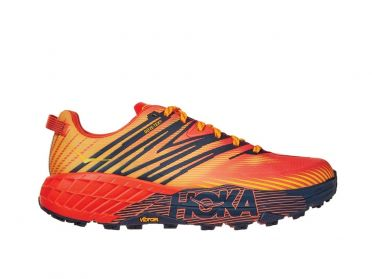 Hoka One One Speedgoat 4 GTX trail running shoes orange men