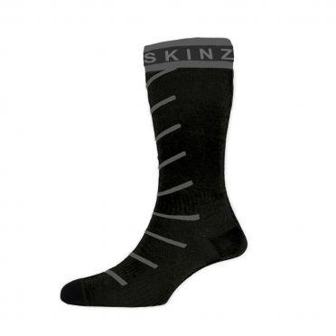 Sealskinz Super thin pro mid hydrostop cycling socks black/grey
