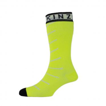 Sealskinz Super thin pro mid hydrostop cycling socks yellow/black