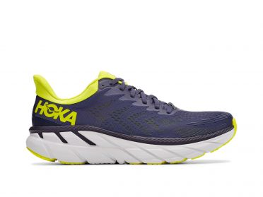 Hoka One One Clifton 7 running shoes blue/yellow men