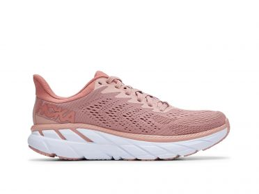 Hoka One One Clifton 7 running shoes pink men