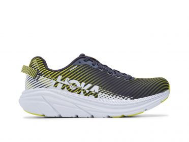 Hoka One One Rincon 2 running shoes blue/yellow men