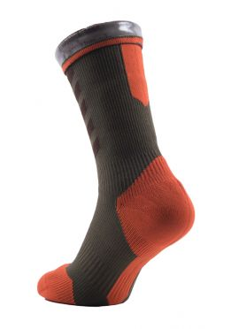 Sealskinz MTB mid mid hydrostop cycling socks brown/orange