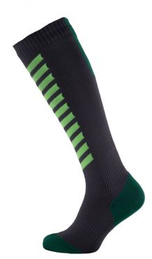 Sealskinz MTB mid knee cycling socks anthracite/green