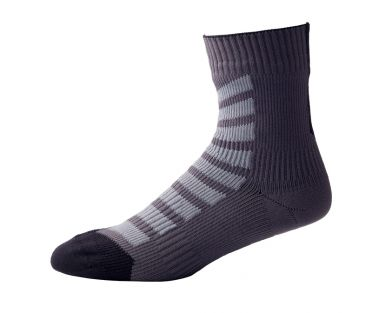 Sealskinz MTB ankle with hydrostop cycling socks anthracite/black