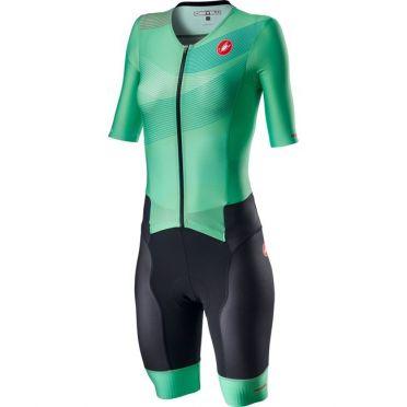 Castelli Free Sanremo 2 W trisuit short sleeve green women