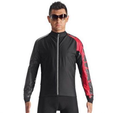 Assos IJ.milleJacket_evo7 cycling jacket black/red men