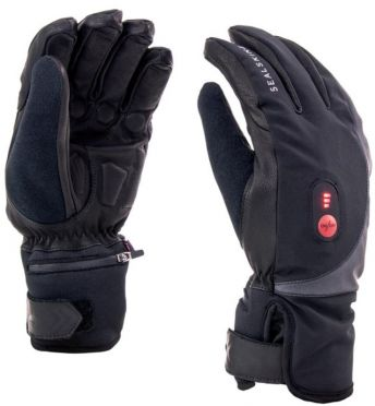SealSkinz Cold weather heated cycle glove black/red