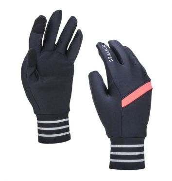 SealSkinz solo reflective gloves black/pink