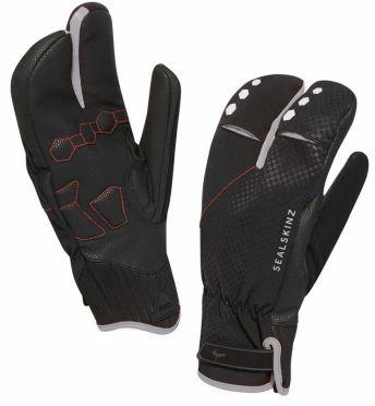 SealSkinz Highland claw cycling gloves black/silver